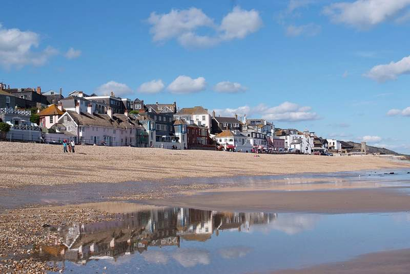 Lyme Regis is just a few miles away along the coast, just across the border in Dorset.