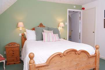 The master bedroom, Bedroom 1, has lovely countryside views and is a really good size.