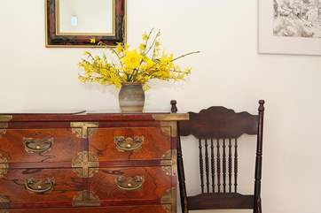Antique furniture adds to the traditional feel of The Old School House.