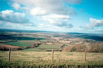 The view towards Ibberton from the top of Bulbarrow Hill.