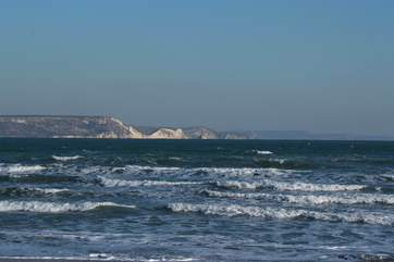 The stunning coastline from Weymouth's seafront was also the backdrop for the Olympic sailing events.