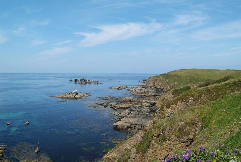 Lizard Point, the most southerly tip of England.