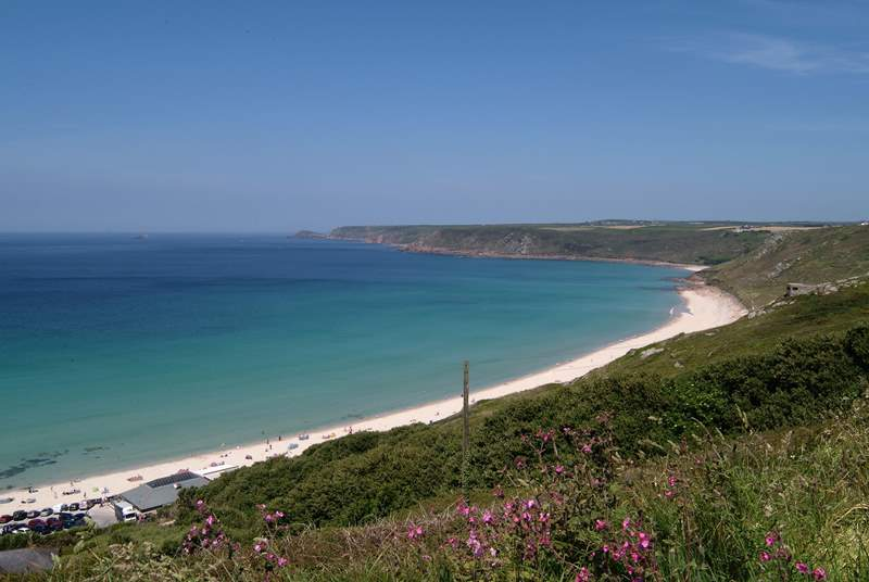 The view down to Sennen from Marias Lane.
