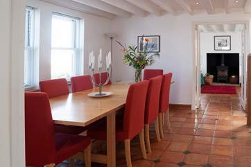 With ample space to dine with family and friends, those on this side of the table also have the bonus of the wonderful views.