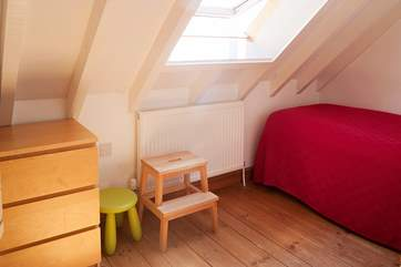 The twin bedroom is ideal for children.