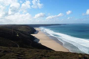 There are fabulous views from the nearby coastal footpaths.