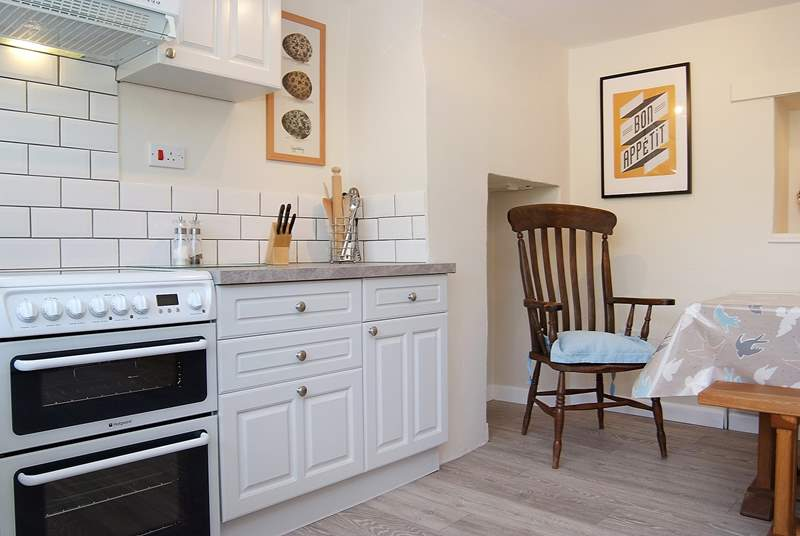The lovely spacious kitchen/diner will be  a real focal point to the holiday.