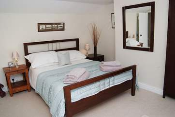 The king-size bed will suit most couples.