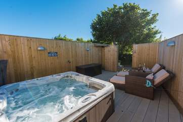Your own private hot tub and terrace.