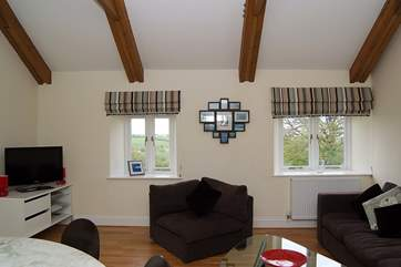 There are lovely views across the countryside from this room.
