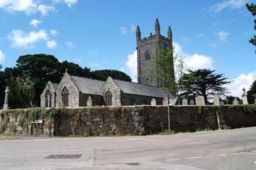 The pretty church at nearby Stithians village.