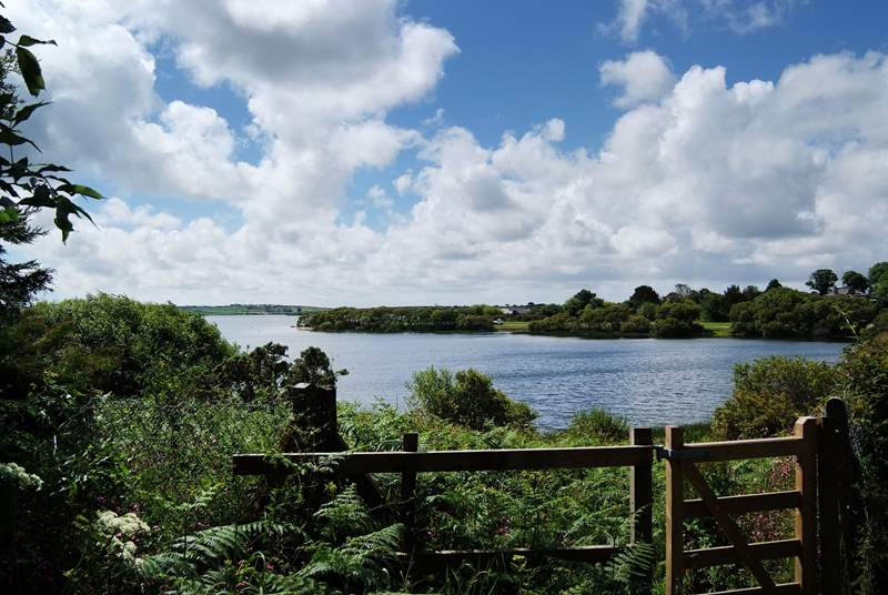 Stithians lake is only a short drive away from the cottage.