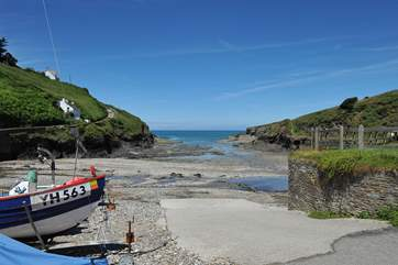 The beach at Port Gaverne.