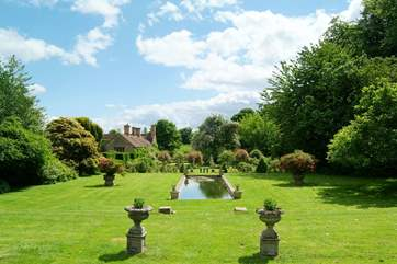 The Owner's beautiful gardens, which guests are welcome to explore.