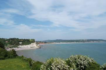 Looking across Beer and Seaton on the Dorset coast, approximately half an hour away by car.
