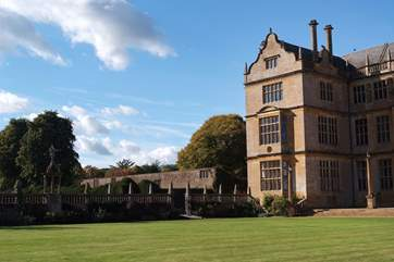 South Somerset has a number of great historic houses to visit - this is Montacute House.