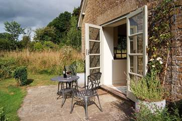 There is a lovely patio overlooking the wildflower meadow - a truly peaceful place to sit with your morning coffee or evening glass of wine.