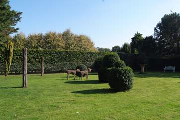 There is a beautiful enclosed garden for you to enjoy, adjacent to the meadow that surrounds The Pump House.