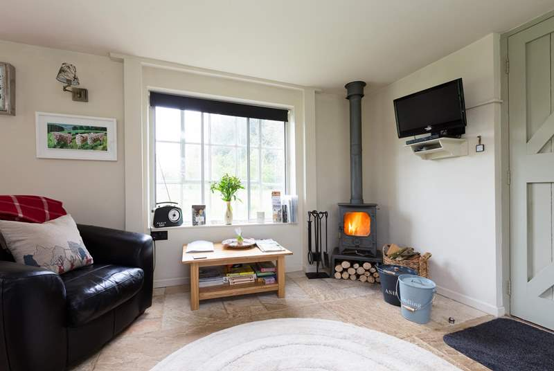 There is a lovely wood burning stove for romantic evenings