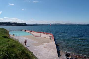 The locally renowned open-air Shoalstone salt water swimming pool.