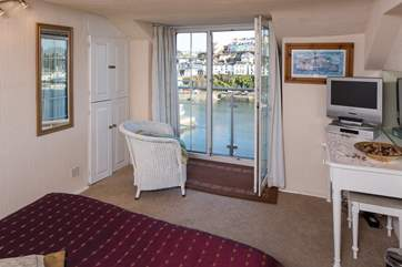 Harbour views from the top floor double bedroom.