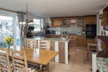 The spacious ground floor kitchen/diner.