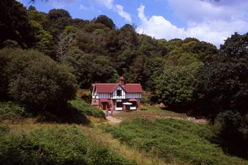 Lady Emma's Cottage is in wonderful surroundings with no neighbours and just the occasional passing walkers.