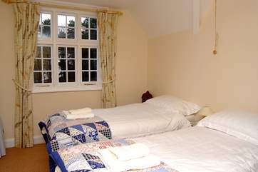 Another attractive double room (Bedroom 3). The beds are 'zip and link' and can be either double or twins.