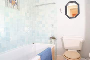 This is the famly bathroom upstairs - there is also a cloakroom downstairs.