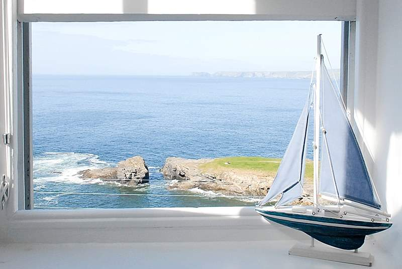 Fabulous sea views from the front of the house.