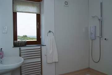 Even the bathroom has a lovely view!