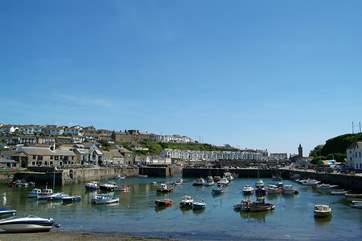 Porthleven's picturesque harbour.