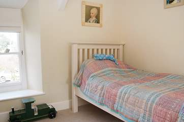 One of the twin beds. (Bedroom 2)
