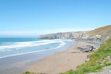 Trebarwith Strand is a lovely beach to visit.
