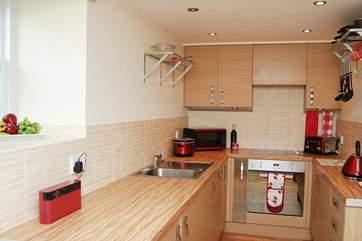 The modern kitchen-area.