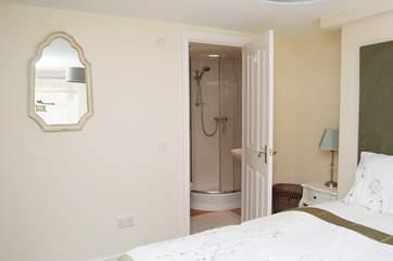 The en suite shower-room in Bedroom 1.