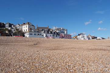 Lyme Regis on the Jurassic Coast is an easy drive from the cottage.