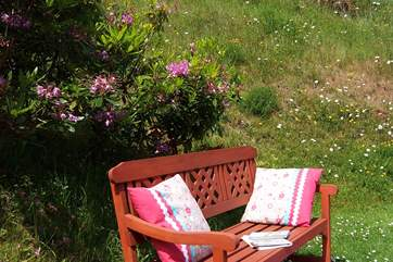 The Orchard has a really lovely garden with several different places to sit and  enjoy the views.