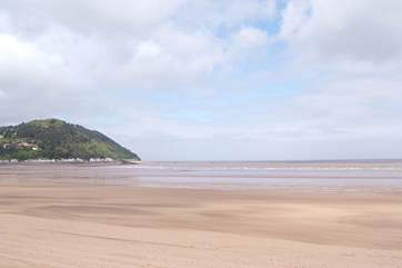 Minehead has miles of sandy beach for all the family to enjoy.