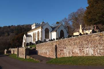 A few minutes' drive away is the picturesque National Trust village of Selworthy, on the headland between Porlock and Minehead and close to the South West Coastal Path.