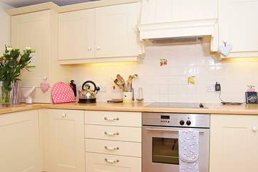 The kitchen is equipped to a very high standard.
