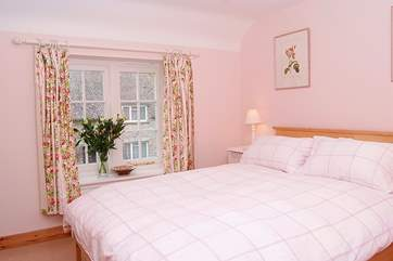 The double bedroom (Bedroom 2) is very pretty and looks out to the front of the cottage.