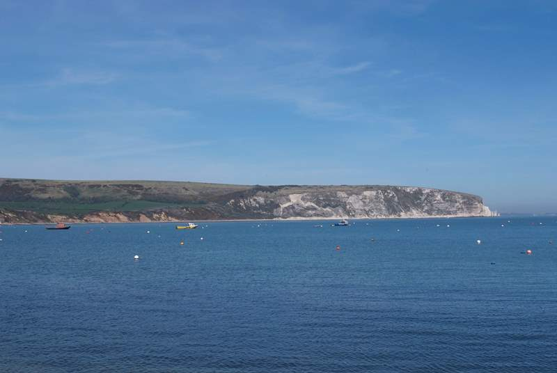 This is the bay at Swanage. A great family beach just a short drive from Corfe.