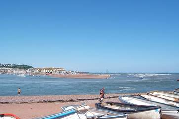 Shaldon beach and the estuary with Teignmouth opposite.