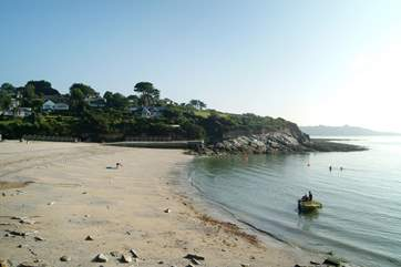 Swanpool beach can be reached along the coastal footpath and has both a lovely beach cafe and seafood bistro.