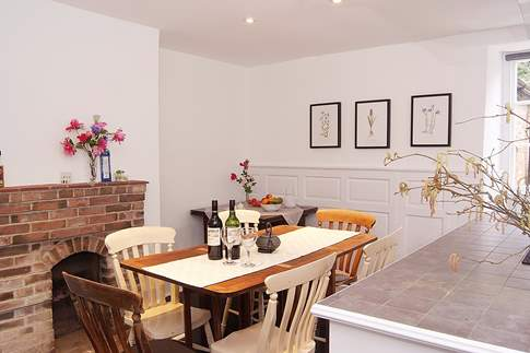 The lovely dining-room and kitchen - a bright and cheerful room, full of character.