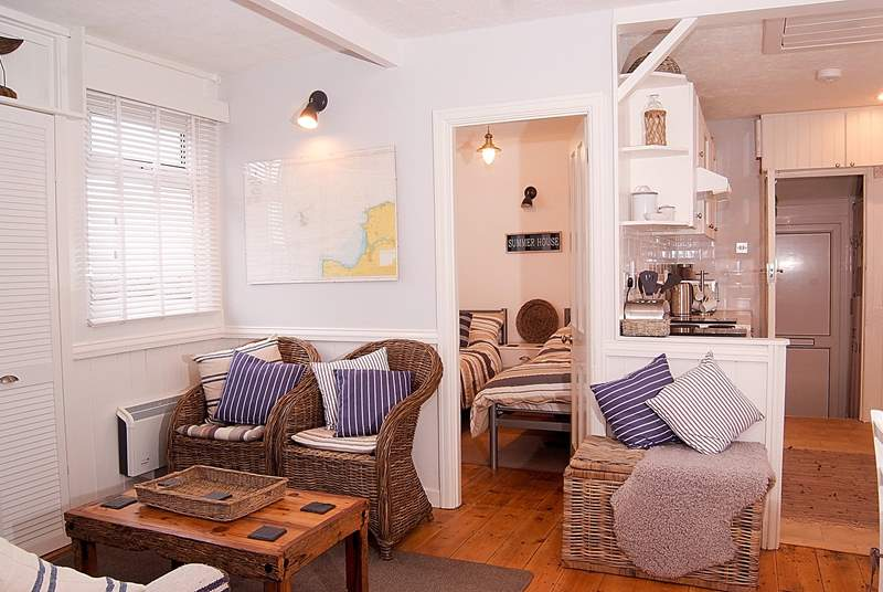 The beautiful interior with its lovely seaside holiday feel.