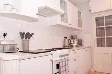 The galley-style kitchen incorporates all the home-from-home facilities that you will need.