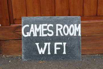 Games room and WiFi
