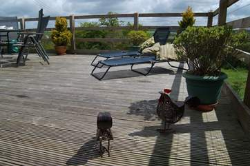 We just love this decked area with its fabulous views.